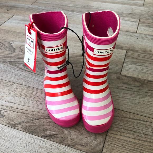 37f83cfc438 Target x Hunter Toddler Pink Stripe Boot NWT